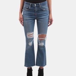 Rag and bone crop flare jeans